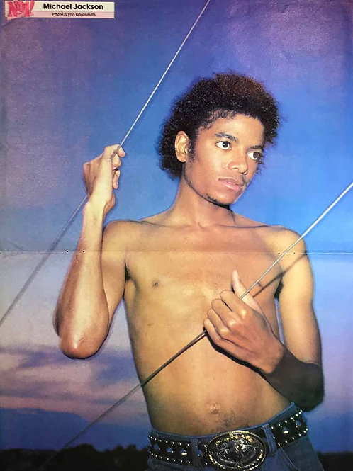 1983 Pull-Out Poster / Lyrics NUMBER ONE Magazine Michael Jackson