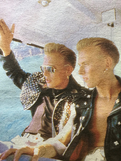 1989 July BROS 'Danger! BROS At Work' Daily Mirror Newspaper Article