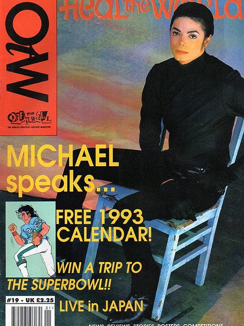 1992 #19 OFF THE WALL UK MAGAZINE MICHAEL JACKSON
