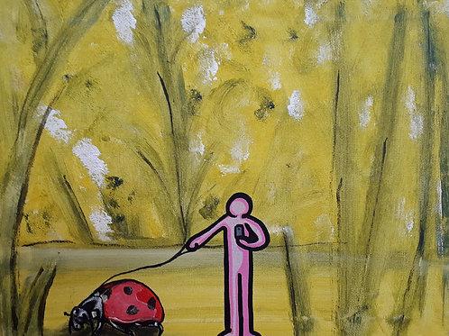 White City Gallery presents 'Coccinella' by street artist ALUA (Christian Aloi) Ladybug ladybird walkies instaready