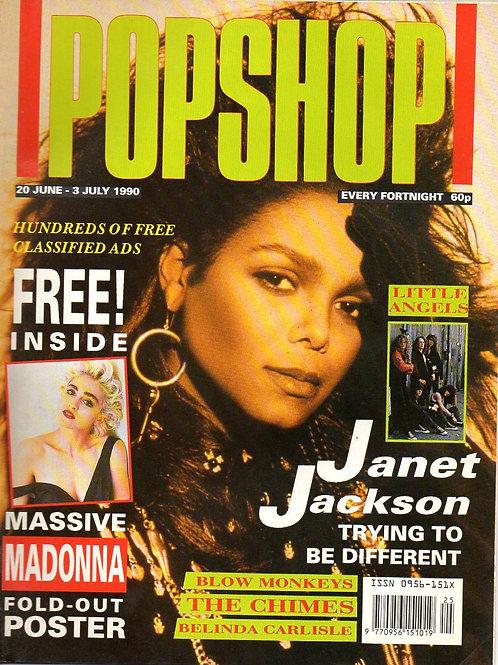 JANET JACKSON MADONNA BELINDA CARLISLE BLOW MONKEYS PopShop Magazine JUNE 1990