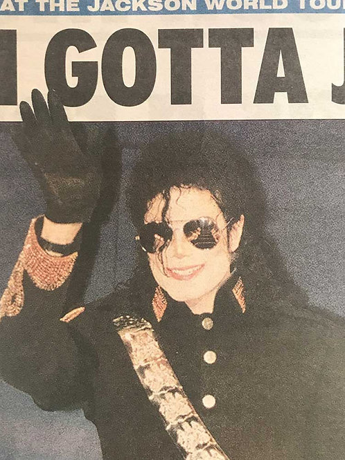1992 'I Gotta Jet Going' THE SUN News Article MICHAEL JACKSON