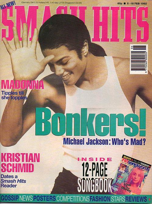 1992 5-18 Feb SMASH HITS Michael Jackson 'Bonkers!'