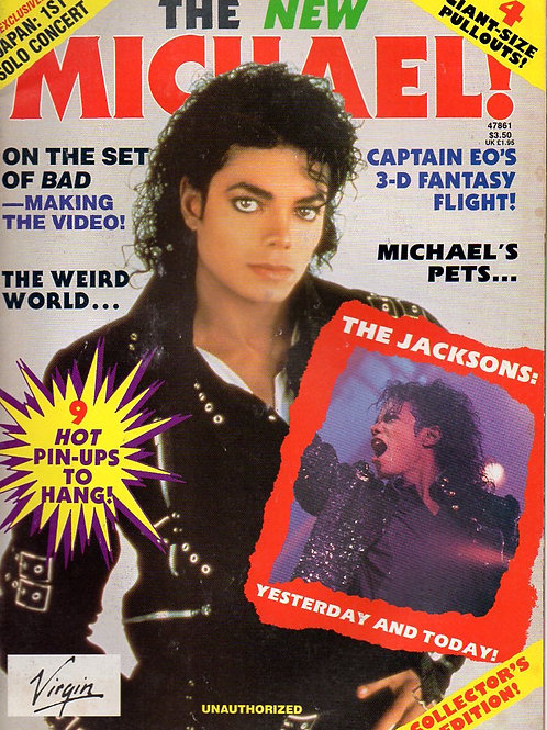 1988 THE NEW MICHAEL! Magazine On The Set of BAD / Captain EO / Japan Tour