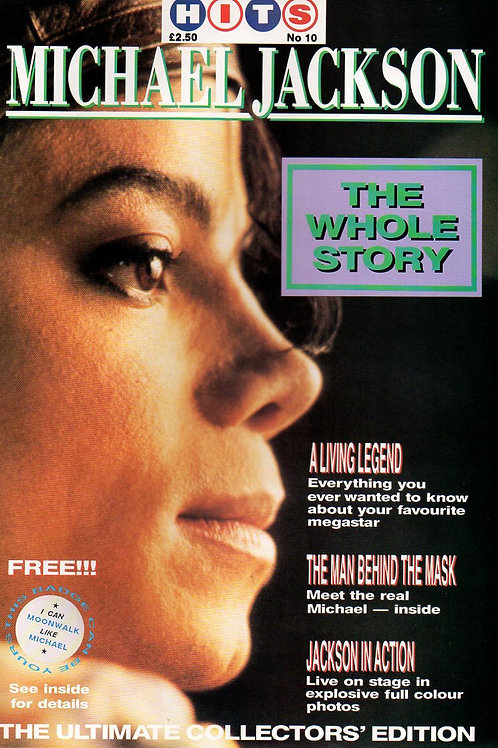 1989 HITS No.10 THE WHOLE STORY Michael Jackson magazine Excellent Condition