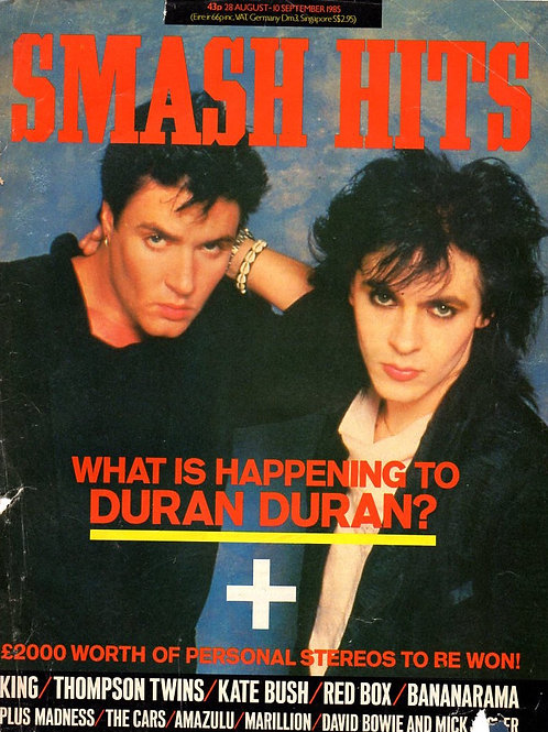 SMASH HITS MAGAZINE AUGUST 1985 DURAN DURAN KATE BUSH