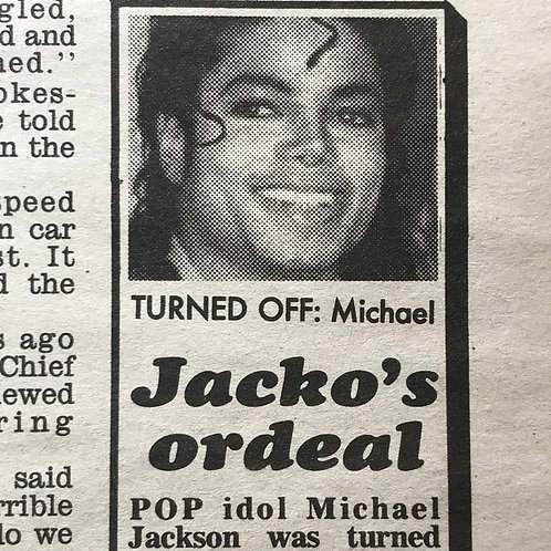 1991 Feb 5 'Jacko's Ordeal' DAILY MIRROR UK MICHAEL JACKSON PHIL COLLINS SINEAD