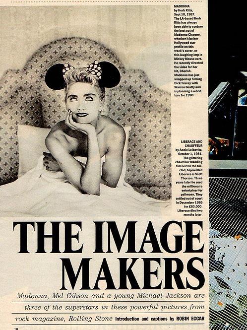 MADONNA / MICHAEL JACKSON MEL GIBSON Magazine Article 1989 RARE