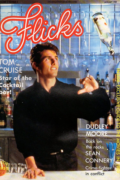 1989 FLICKS UK Cinema Magazine TOM CRUISE 'COCKTAIL' January