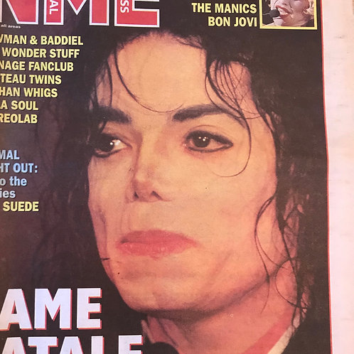October 1993 NME newspaper cover featuring Michael Jackson