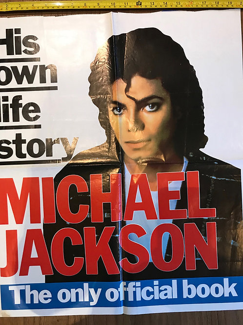 1980's ULTRA RARE UK NEWSPAPER PROMO POSTER! MICHAEL JACKSON