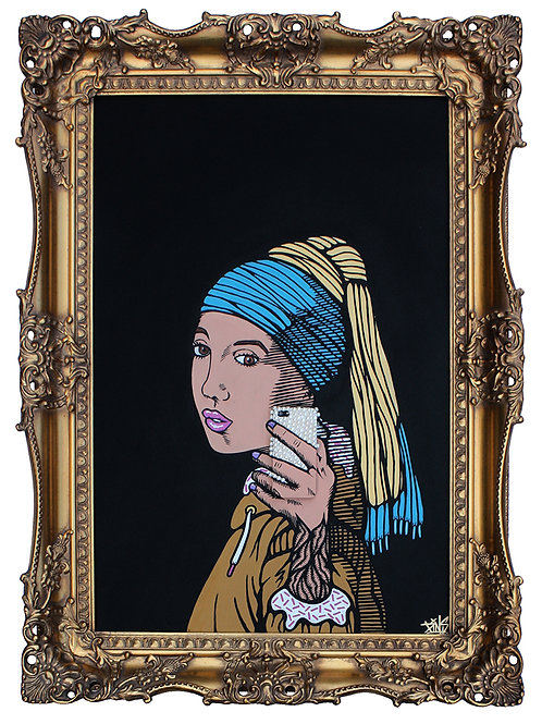 'Girl With Pearl Phone' by PINS