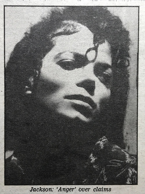 1989 'Jackson Bid To Ban Book' DAILY MAIL Newspaper Article MICHAEL JACKSON