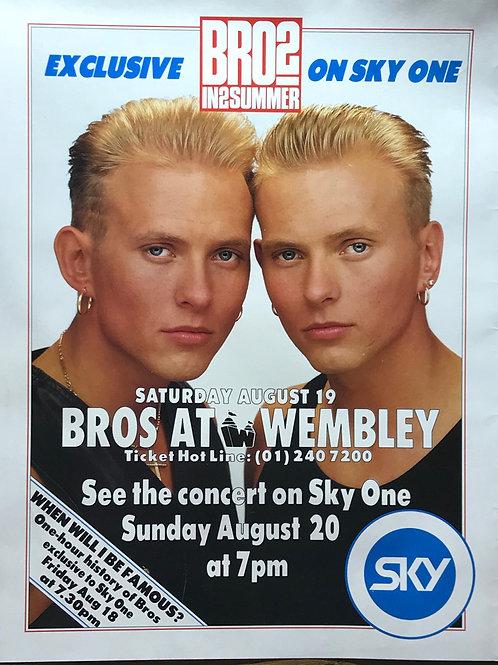 Matt Goss Luke Goss BROS at Wembley 1989