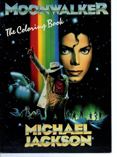 1988 MOONWALKER Coloring Book Michael Jackson UK Printed Drawings by Rick Tulka