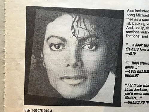 1990 USA POPULAR CULTURE INK PUBLISHERS Article featuring MICHAEL JACKSON
