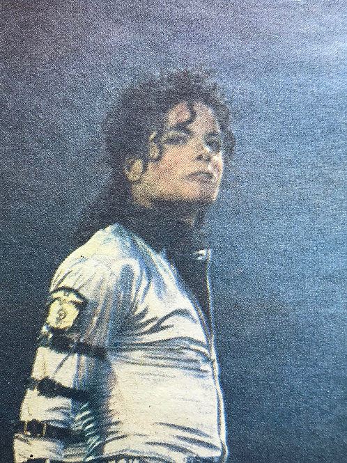 1988 OUEST FRANCE Newspaper Article featuring MICHAEL JACKSON Aug