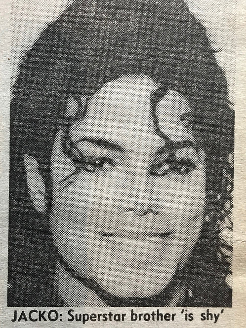 1990 June 'Jacko's Brother Beat Me' News of The World Newspaper MICHAEL JACKSON