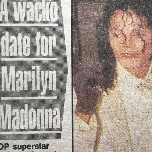 1991 March 26 'A Wacko Date' DAILY MIRROR UK Article MICHAEL JACKSON MADONNA