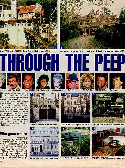 1990 Through The Keyhole! MICHAEL JACKSON MADONNA UK Magazine Article