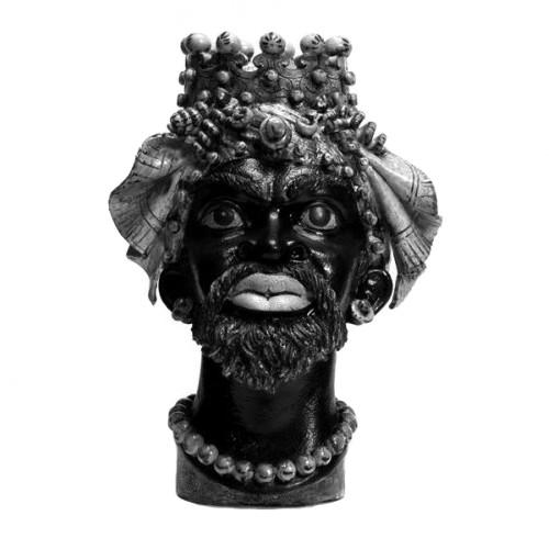 Traditional 'Testa di Moro' ceramic Moor's head from Sicily