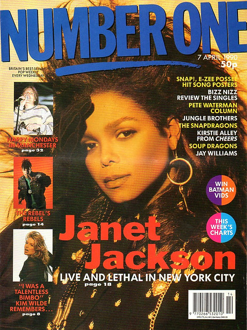 Number One 7 APR 1990 JANET JACKSON KIM WILDE HAPPY MONDAYS REBEL MC EZEE POSSEE