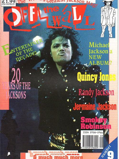 1989 #9 OFF THE WALL OtW Magazine UK Rare MICHAEL JACKSON + RANDY JACKSON