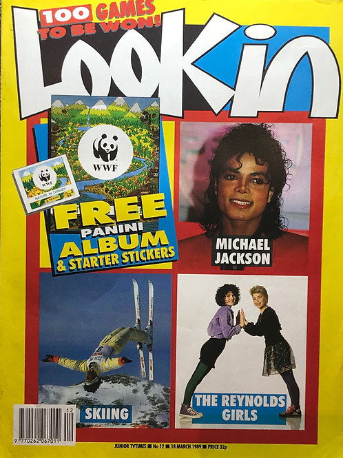 1989 March LOOK IN Magazine Article and Poster MICHAEL JACKSON (UK)