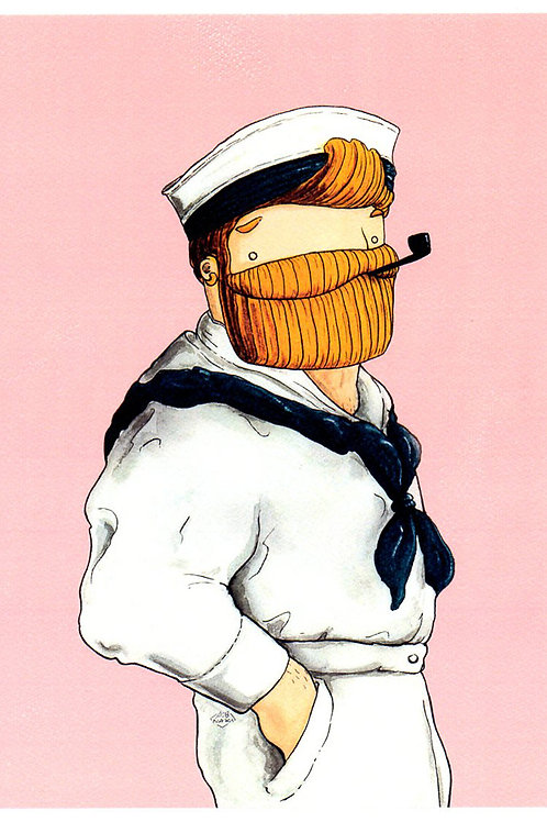 'Sailor in the Pink' Beardy Bear by NAKI