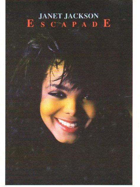 Janet Jackson ULTRA RARE PROMO RETAIL DISPLAY + POSTCARD 1990 ESCAPADE SINGLE