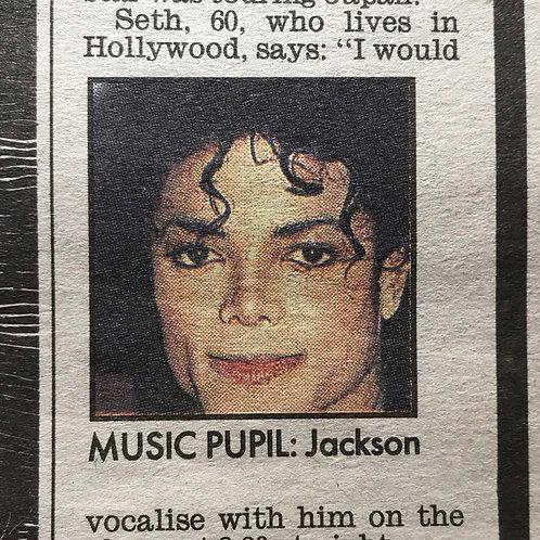 1991 Feb 15 'Ringa Longa Jacko' DAILY MIRROR News Article MICHAEL JACKSON