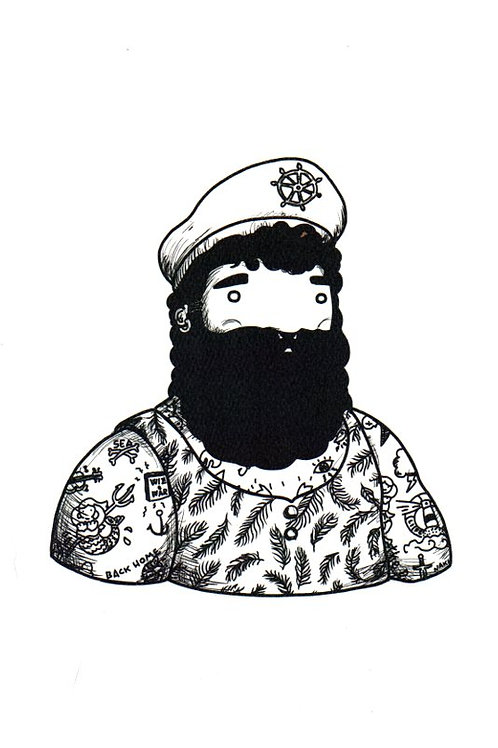 'Capitan Moreno' Beardy Bear by NAKI