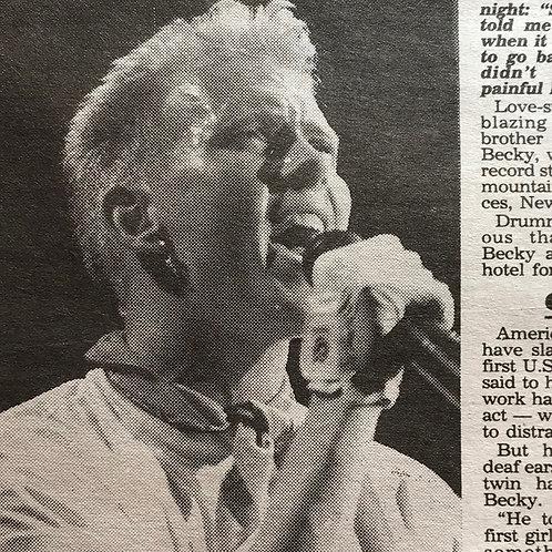 DAILY STAR Newspaper Article BROS 'Sexy Senorita' October 1989 British