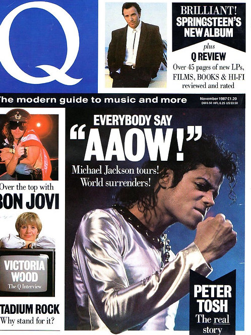 1987 Q MAGAZINE Article featuring MICHAEL JACKSON November