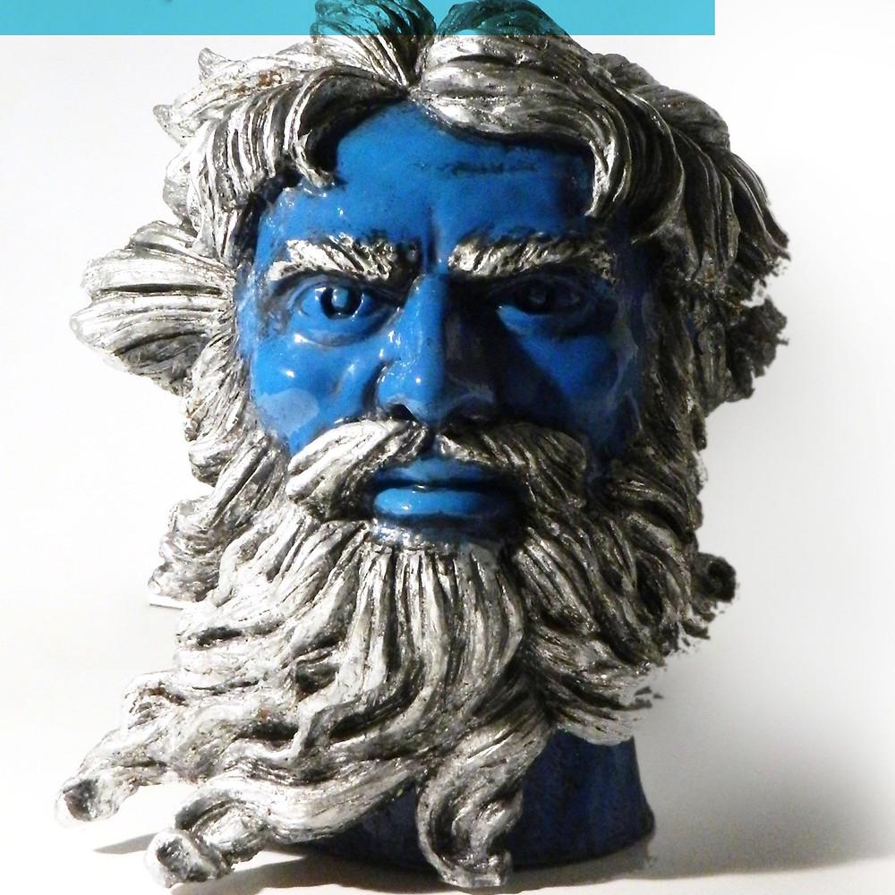 'Poseidone' porcelain head sculpture by Maurizio Lo Castro