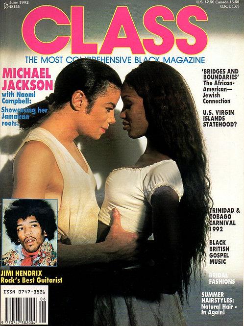 1992 CLASS Magazine JUNE MICHAEL JACKSON NAOMI CAMPBELL, MAGIC JOHNSON