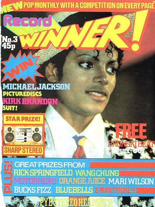 1984 RECORD WINNER! Magazine Article MICHAEL JACKSON UK