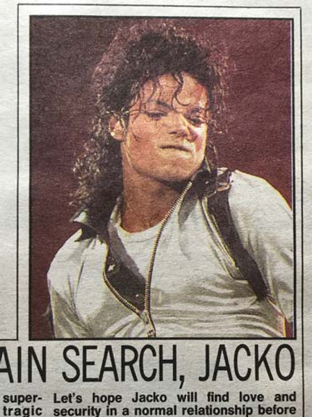 1990 Oct 19 DAILY MIRROR News Article feat. MICHAEL JACKSON