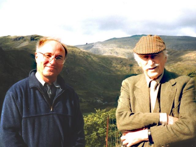 Artist David Porteous-Butler with Sir Kyffin Williams RA