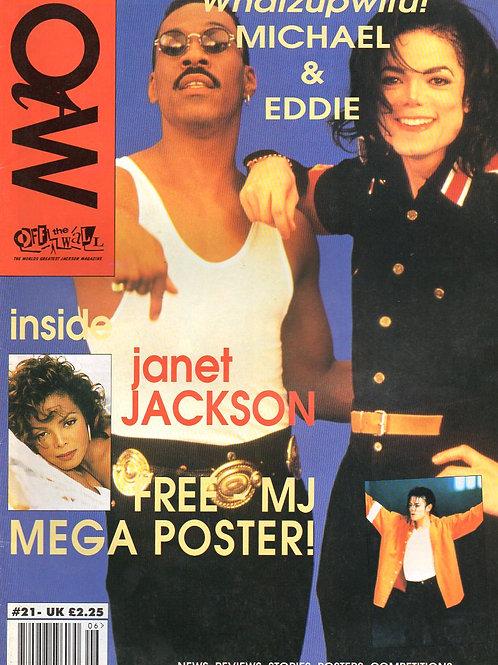 1993 #21 OFF THE WALL UK MAGAZINE + POSTER MICHAEL JACKSON