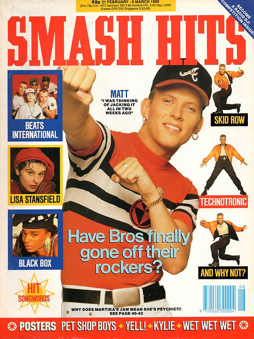 SMASH HITS MAGAZINE JULY 1989 BROS BLACK BOX LISA STANSFIELD