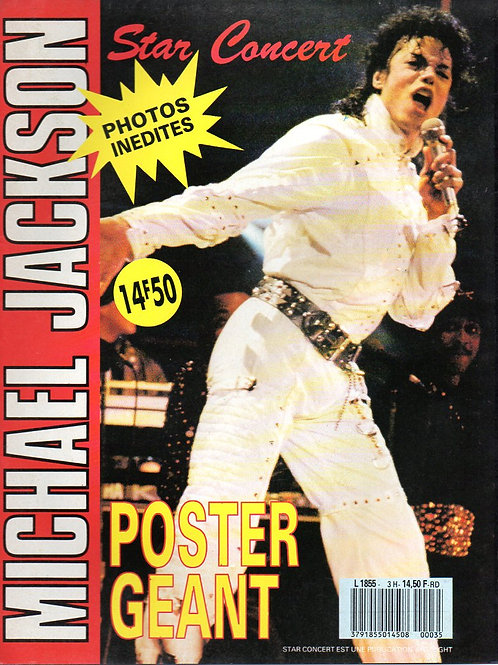 1988 FRENCH 'STAR CONCERT' GIANT POSTER MICHAEL JACKSON