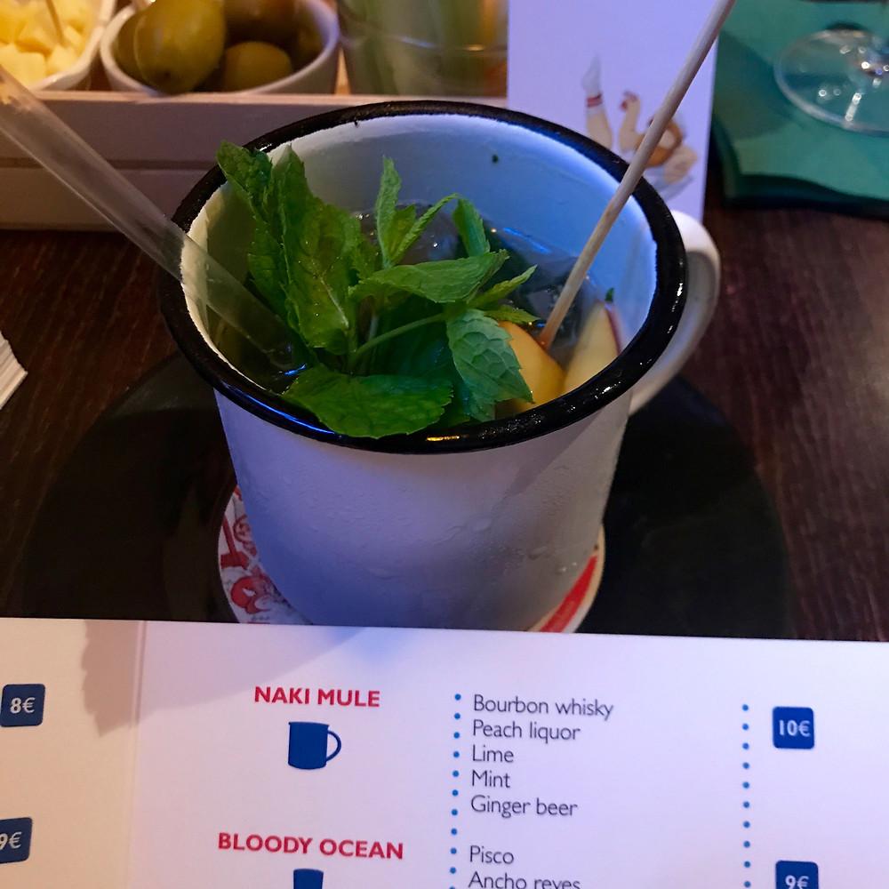 The 'NAKI Mule' cocktail at EGO bar in Milan