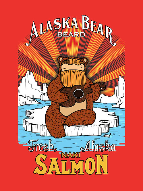 'Alaska Bear' (Beardy Bear Ukulele Player) by NAKI