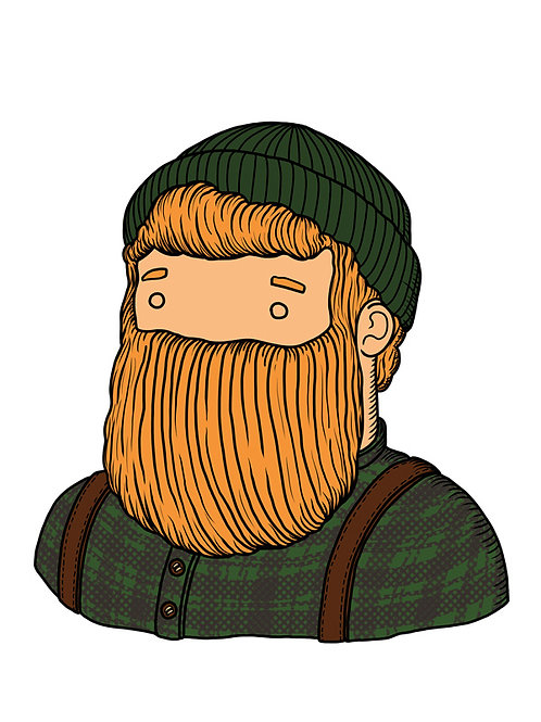 'Lumberjack' Beardy Bear by NAKI