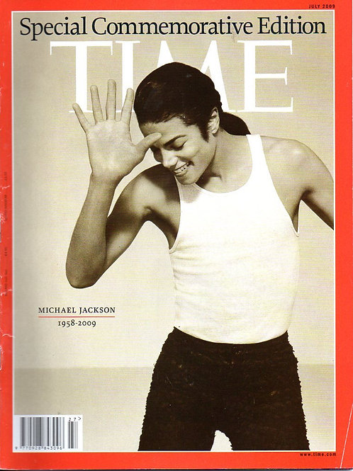 2009 TIME Magazine featuring MICHAEL JACKSON July