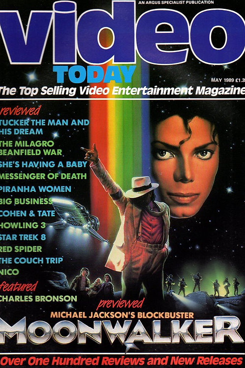 1989 VIDEO TODAY Magazine Featuring Michael Jackson UK May
