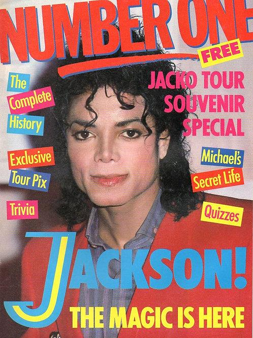 1988 NUMBER ONE Michael Jackson Souvenir Tour Special 8 pages 1958-1988