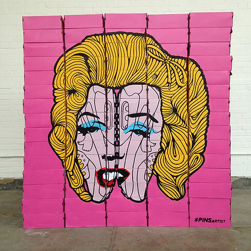 'Marilyn in the 90's' sculpture by PINS