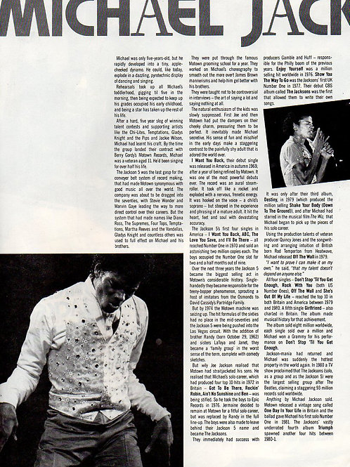 1984 SONY TAPE ROCK REVIEW Michael Jackson Howard Jones